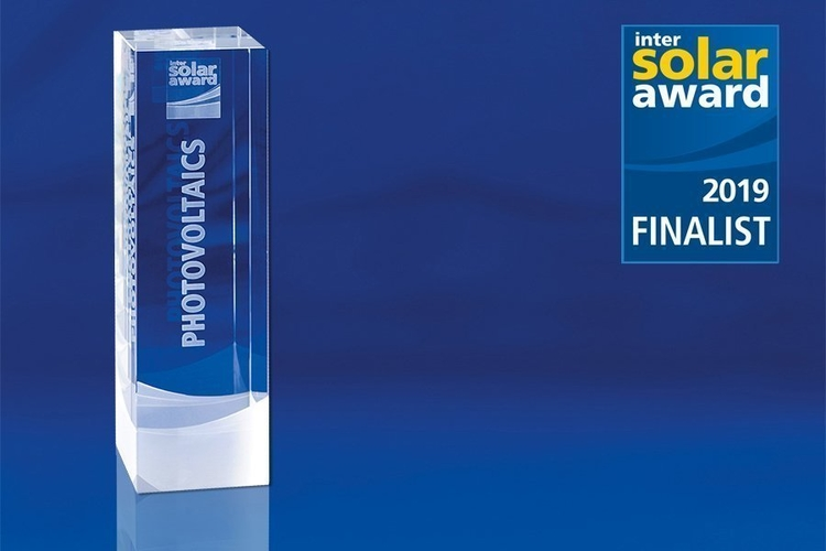 rophy and finalist signet of the Intersolar AWARD finalists 2019